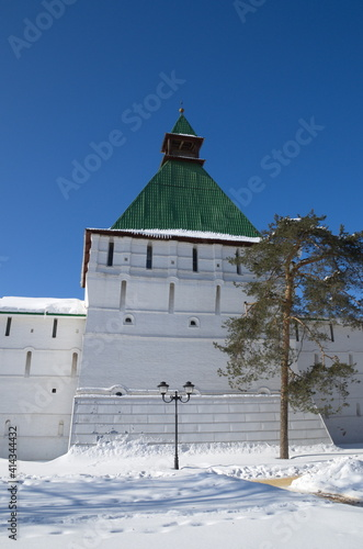 Drying tower of the Holy Trinity Sergius Lavra. Sergiev Posad, Moscow region. The Golden Ring of Russia © koromelena