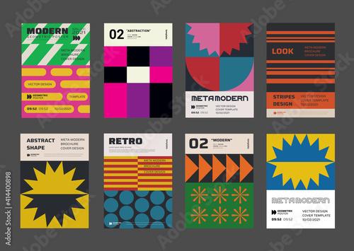 Modern aesthetics posters collection Fototapeta