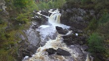 Rogie Falls Powerful Waterfall In Scotland