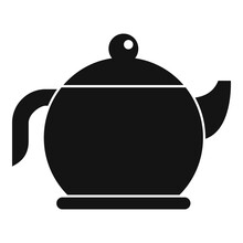 Tea Pot Icon. Simple Illustration Of Tea Pot Vector Icon For Web Design Isolated On White Background