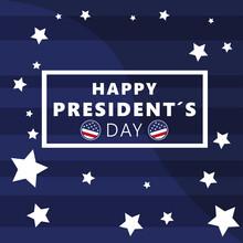 USA President Day Poster. 15 February. Vector Illustration