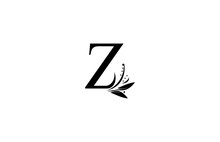 Monogram Flourishes Letter Z Logo Manual Elegant Minimalism Sign Vector