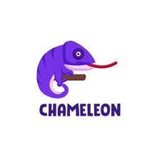 Simple Chameleon Mascot Logo Design