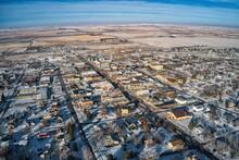 Aerial View Of Winner, South Dakota In Winter