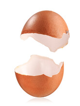 Two Empty Egg Shells One Over Another