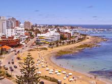 Punta Del Este Aerial View Coastal Scene