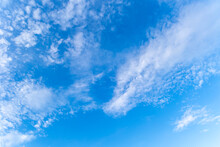 Clear Blue Sky With Few Clouds