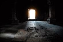 Light Open Door In Church