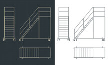 Rolling Service Ladder Drawings
