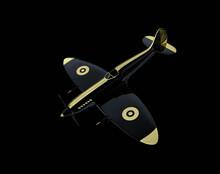 Supermarine Spitfire Concept On Black Background. 3d Rendering.