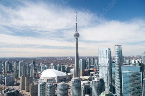 Fototapeta premium Aerial view of Toronto city skyline, Canada