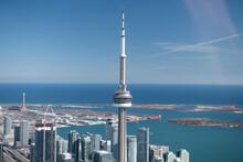 Aerial View Of Toronto City Skyline, Canada