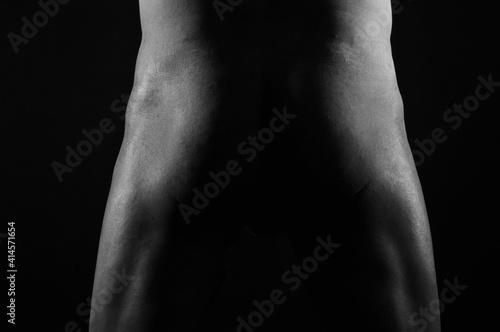 Fotografija hombre, desnudo, trasero