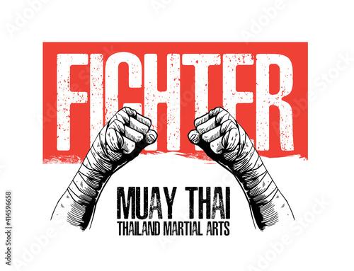 Foto illustration of muay thai martial arts