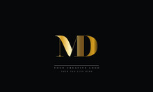 MD, DM, Abstract Vector Logo Monogram Template