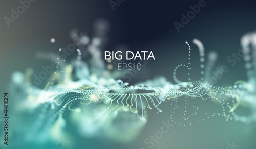 Stampa su Tela Abstract tech background