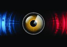 Technology Abstract Future Eye Radar Circle