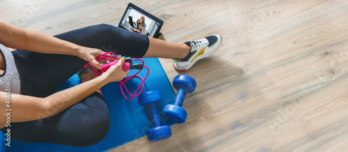 Canvas Fitness at home, remote training with virtual instructor