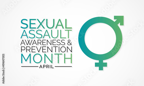 Vászonkép Sexual Assault Awareness Month is an annual campaign to raise public awareness about sexual assault and educate people on how to prevent sexual violence
