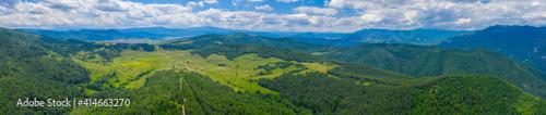 Aerial view of landscape near Velingrad, Bulgaria
