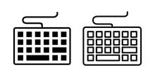 Keyboard Icon Set. Keyboard Vector Symbol