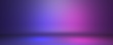 Pink And Blue Studio Background Or Backdrop 3D Room Lightbox