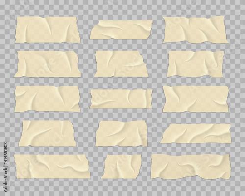 Fotografie, Obraz Set of transparent adhesive tape