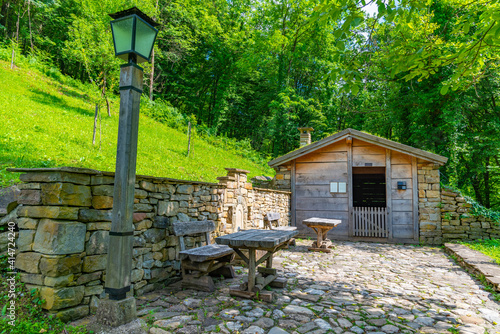 Traditional bulgarian architecture displayed at Etar ethnographic complex