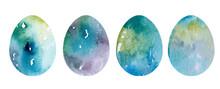 Hand Drawn Patterned Easter Eggs. Illustration Of Spring Elements