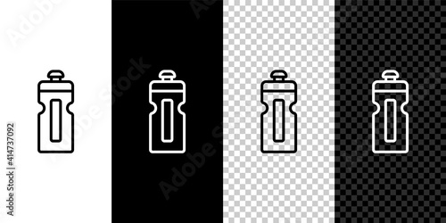 Set line Fitness shaker icon isolated on black and white,transparent background Wallpaper Mural