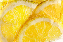 Lemon Slices In Fizzy Water