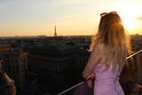Fototapeta Fototapety Paryż - Zachód słońca w Paryżu