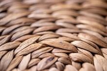 Wicker Weave Background Texture. Macro Photo.