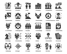 People Icons Line Color Work Group Team Vector ,Team,Business,Human Resources