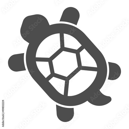 Photo Turtle with hard shell solid icon, domestic animals concept, tortoise sign on white background, Turtle icon in glyph style for mobile concept and web design