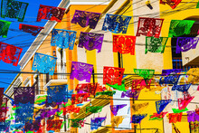 Colorful Mexican Christmas Paper Decorations San Jose Del Cabo Mexico
