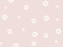 Daisy Vector Pattern. Stylish Daisy Flower Pastel Pattern.