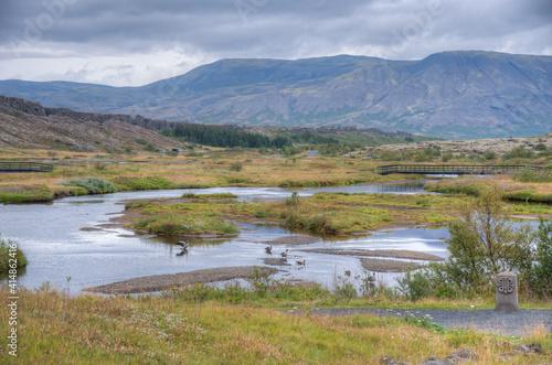 Fotografie, Obraz Landscape of Thingvellir national park in Iceland