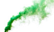 Green smoke isolated on a white