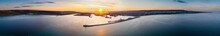 Sunset Aerial Of The Port Of Varna In Bulgaria