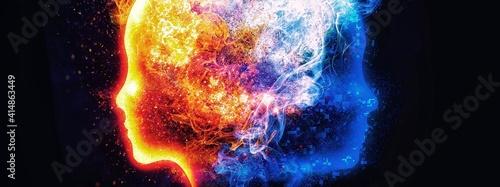 抽象的な炎