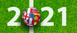 Leinwandbild Motiv Fussball 2021