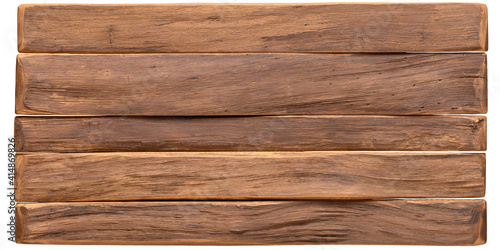Photo wood texture. vintage board surface isolated on white background