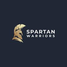 Spartan Warrior Logo Vector Modern Simple Abstract Concepts