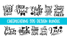 Lettering Cheerleading Overlay Typography Set, Calligraphy Style Quote, Shop Promotion Motivation, Graphic Design Cheerleading Lettering, And Calligraphy Postcard Or Poster Graphic Design Typography E