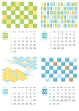 ※祝日改正版 2021年5月〜8月 和柄をアレンジしたカレンダー
