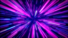 Abstract Creative Cosmic Background. Hyperspace Jump Into Another Galaxy. 3D Rendering.
