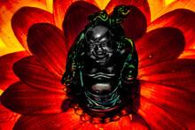 Photograph Of A Buddha Figurine In Closeup