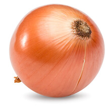 Onion Isolated On White Background. Full Depth Of Field. Clipping Path