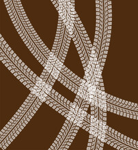 Tire Tracks Vector Background Illustraion